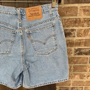 Vintage Levi's Women's 951 Orange Tab Denim Shorts